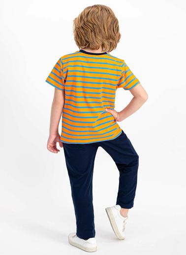 U.S. Polo Assn.  Lisanslı Turuncu Erkek Çocuk Pijama Takımı Oranj
